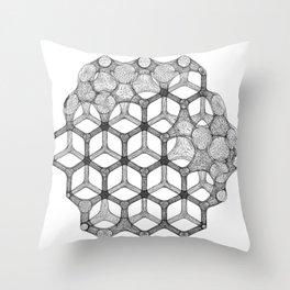 GEOMETRIC NATURE: COGNITIVE HEXAGON w/b Throw Pillow