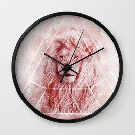Sacred Majestic Red Lion Spirit Animal Wall Clock