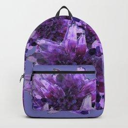 CLUSTERS PURPLE QUARTZ CRYSTALS Backpack