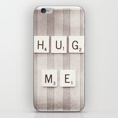 Hug Me Photography, Brown Neutral Love Photograph iPhone & iPod Skin