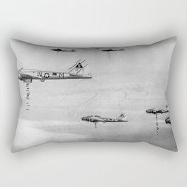 US Air Force Planes Dropping Bombs Over Germany - 1945 Rectangular Pillow