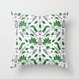 Orienteering insects Throw Pillow