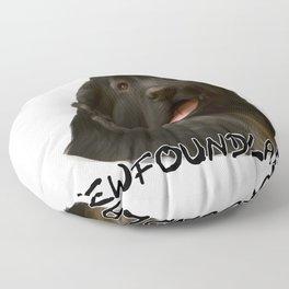 My Best Friend is a Newfoundland! Floor Pillow
