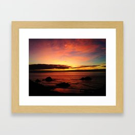 Sutro Baths Sunset Framed Art Print