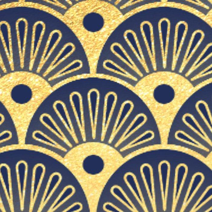 Blue Fan Gold Leggings