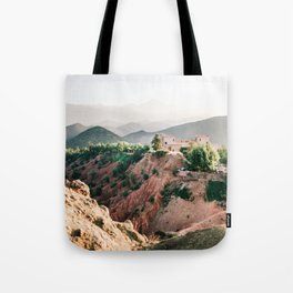 Travel photography Atlas Mountains Ourika | Colorful Marrakech Morocco photo Tote Bag