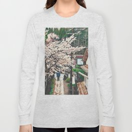 Passing by Cherry Blossoms Long Sleeve T-shirt
