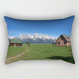 Moulton Homestead and Grand Teton Range Rectangular Pillow