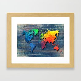 World map special 8 Framed Art Print