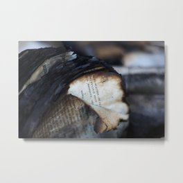 Burned and Blackened Pages Metal Print