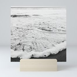 Rushing in - black white Mini Art Print