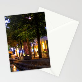 Laubach Laupheim by night Stationery Cards