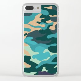 Camouflage Clear iPhone Case