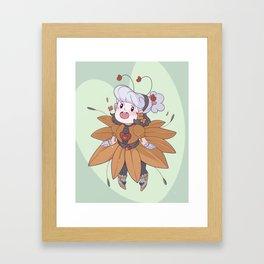 Sunflower Opal Framed Art Print