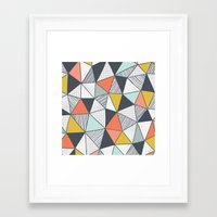 triangles Framed Art Prints featuring Triangles by Patterns and Textures