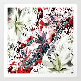Coloured Lilies Art Print