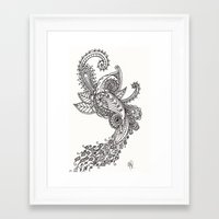 paisley Framed Art Prints featuring Paisley by Bethany Pease