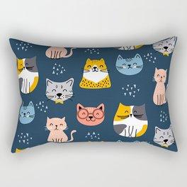 cute seamless cats pattern Rectangular Pillow