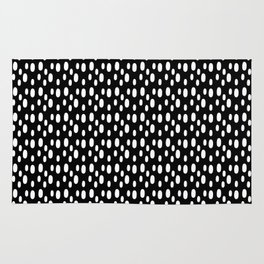Black pattern with white spots Rug
