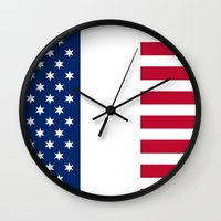 france Wall Clocks featuring france by ovisum