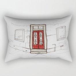 Red Doors  Rectangular Pillow