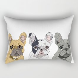 Triple Frenchies Rectangular Pillow