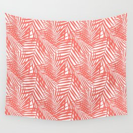 Palm Fronds in Living Coral Wall Tapestry