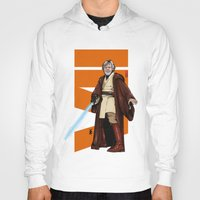 jedi Hoodies featuring Old jedi  by Akyanyme