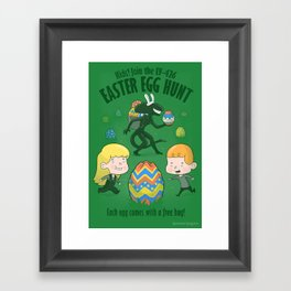 A Xenomorph Easter Special Framed Art Print