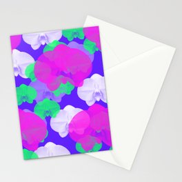 Floral Orchid Flower Background Wallpaper / GFTBackground043 Stationery Cards