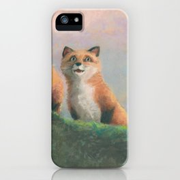 Red Fox Kits First Outing iPhone Case