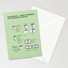 Bookbinding – About Paperback and Hardcover in Detail (in English) Stationery Cards