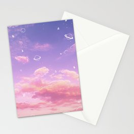 Doodle Pastel Sunset Stationery Cards