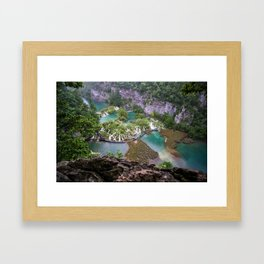 Pilitvice Lakes and Waterfalls, Croatia Framed Art Print