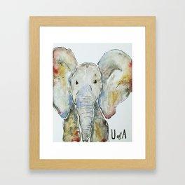 Crimson Tide Elephant Framed Art Print