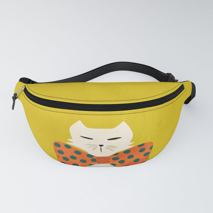 Cat with incredebly oversized humongous bowtie Fanny Pack