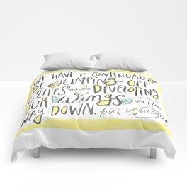jumping off cliffs - kurt vonnegut quote Comforters