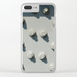 Part of metal framework, with group of nuts and bolts Clear iPhone Case