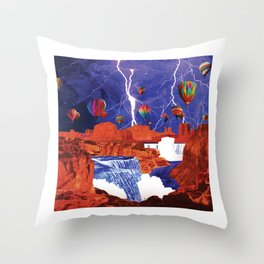 Thunderstorms Over Red Canyon Throw Pillow