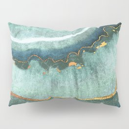 Gold Turquoise Agate Pillow Sham