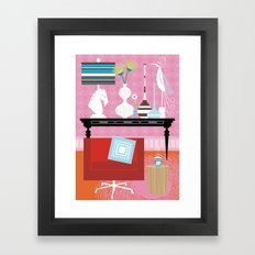 Think Pink Framed Art Print