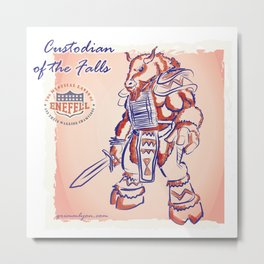 Custodian of Bills Falls Metal Print