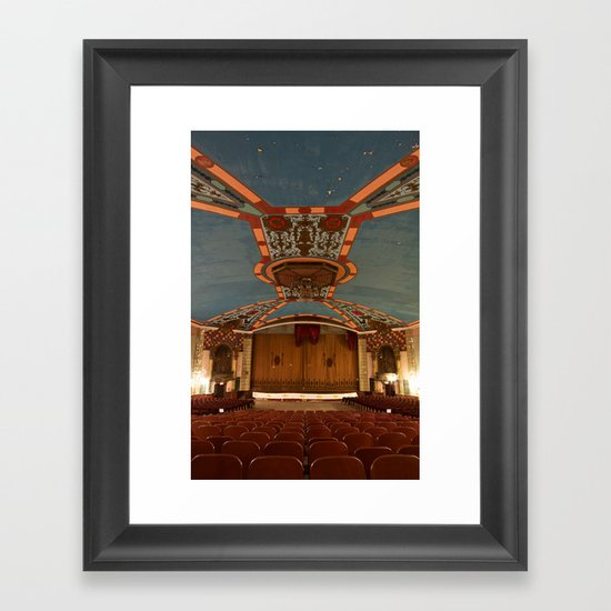 a theater's voice Framed Art Print