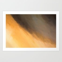 Abstract Orange Beige and Black Shades.   Like painted on canvas. Art Print