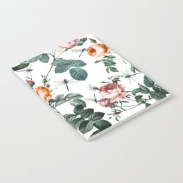 Floral and Winged Darter Notebook