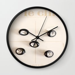 le chic for 25 cents Wall Clock