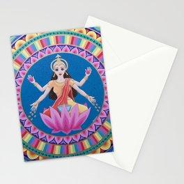 Goddess Lakshmi Lotus Mandala Stationery Cards