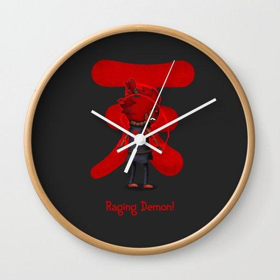 Raging Demon Wall Clock