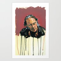neil young Art Prints featuring Neil Young Illustration by Jeremy Okai Davis