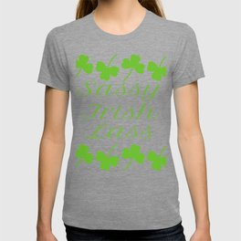 Sassy Irish Lass Shamrocks St. Patrick's Day T-shirt